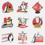Colorful Cleaning Company Logotypes Royalty Free Stock Photo