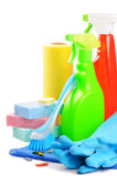 Colorful cleaning products Royalty Free Stock Images