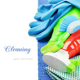 Colorful cleaning products Royalty Free Stock Image