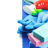 Colorful cleaning products Stock Photo