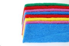 Colorful cleaning sponges Stock Photography
