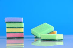 Colorful cleaning theme Stock Images