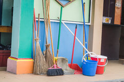 Colorful cleaning utilities Stock Image