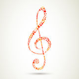 Colorful Clef Stock Photo
