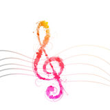 Colorful clef Royalty Free Stock Photography