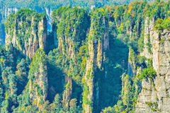 Colorful cliffs in Zhangjiajie Forest Park. Stock Images