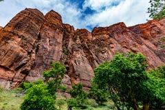 Colorful Cliffs at Zion National Park, Utah. Royalty Free Stock Photos