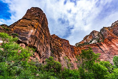 Colorful Cliffs at Zion National Park, Utah. Royalty Free Stock Images