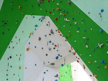 Colorful climbing wall detail Royalty Free Stock Image