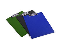 Colorful clip boards Stock Image