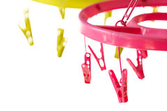 Colorful clip  hanger Royalty Free Stock Photography