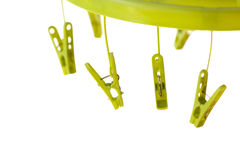 Colorful clip  hanger Stock Photo