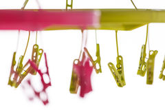 Colorful clip  hanger Stock Photography