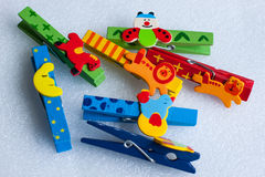 Colorful clips Stock Image