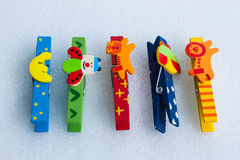 Colorful clips Royalty Free Stock Photography