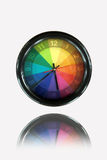 Colorful clock Royalty Free Stock Images