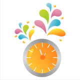 Colorful clock background Royalty Free Stock Image
