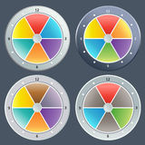 Colorful clock Stock Image