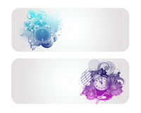 Colorful Clock Vector Banner. And Backround Stock Photography