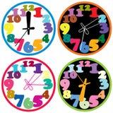Colorful clocks Stock Image