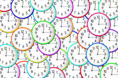 Colorful clocks Royalty Free Stock Photography