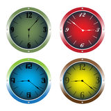 Colorful clocks Royalty Free Stock Photo