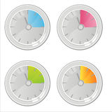 Colorful clocks icons Stock Photography