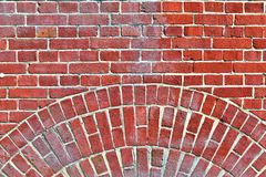 Colorful close up view on old aged and weathered brick walls in high resolution found in northern europe royalty free stock photos