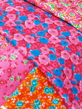 Colorful cloth. With different flower pattern.o Stock Photo
