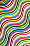 Colorful cloth with curves pattern Royalty Free Stock Photography