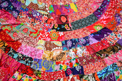Colorful cloth made from small pieces togather Royalty Free Stock Image