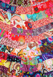 Colorful cloth made from small pieces togather Stock Images