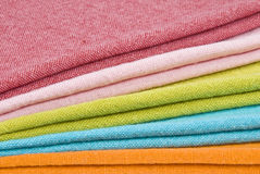 Colorful Cloth Napkins Royalty Free Stock Photos