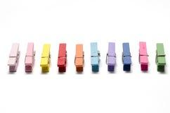 Colorful cloth pin Royalty Free Stock Image