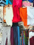 Colorful Clothes on Display, Plaka Royalty Free Stock Photo