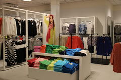 Colorful Clothes. In Fashion Store Stock Images