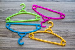 Colorful Clothes Hanger Royalty Free Stock Images