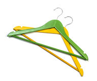Colorful clothes hangers Royalty Free Stock Photos