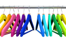 Colorful Clothes Hangers Stock Photo