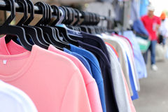Colorful clothes. Stock Image