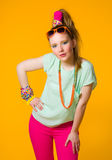 Colorful clothes Stock Image