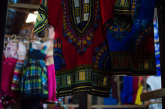 Colorful Clothes at Kimironko Market in Kigali, Rwanda. Colorful Clothes at Kimironko Market in Kigali in Rwanda Stock Images