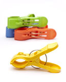 Colorful Clothes Pegs Stock Photo