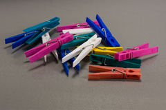 Colorful clothes pegs Royalty Free Stock Photos