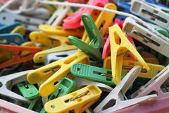 Colorful clothes pegs Royalty Free Stock Photo