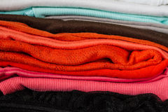 Colorful clothes Stock Photography