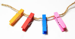 Colorful clothes pin Royalty Free Stock Photography