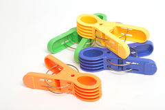 Colorful clothes pins Stock Photography