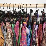 Colorful clothes  on rack. Royalty Free Stock Image