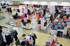 Colorful clothes shop Royalty Free Stock Photos